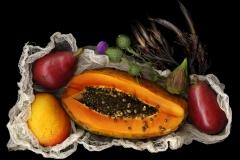 Papaya and Red Pears